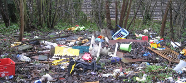 Camberley Fly Tipping Cleanup